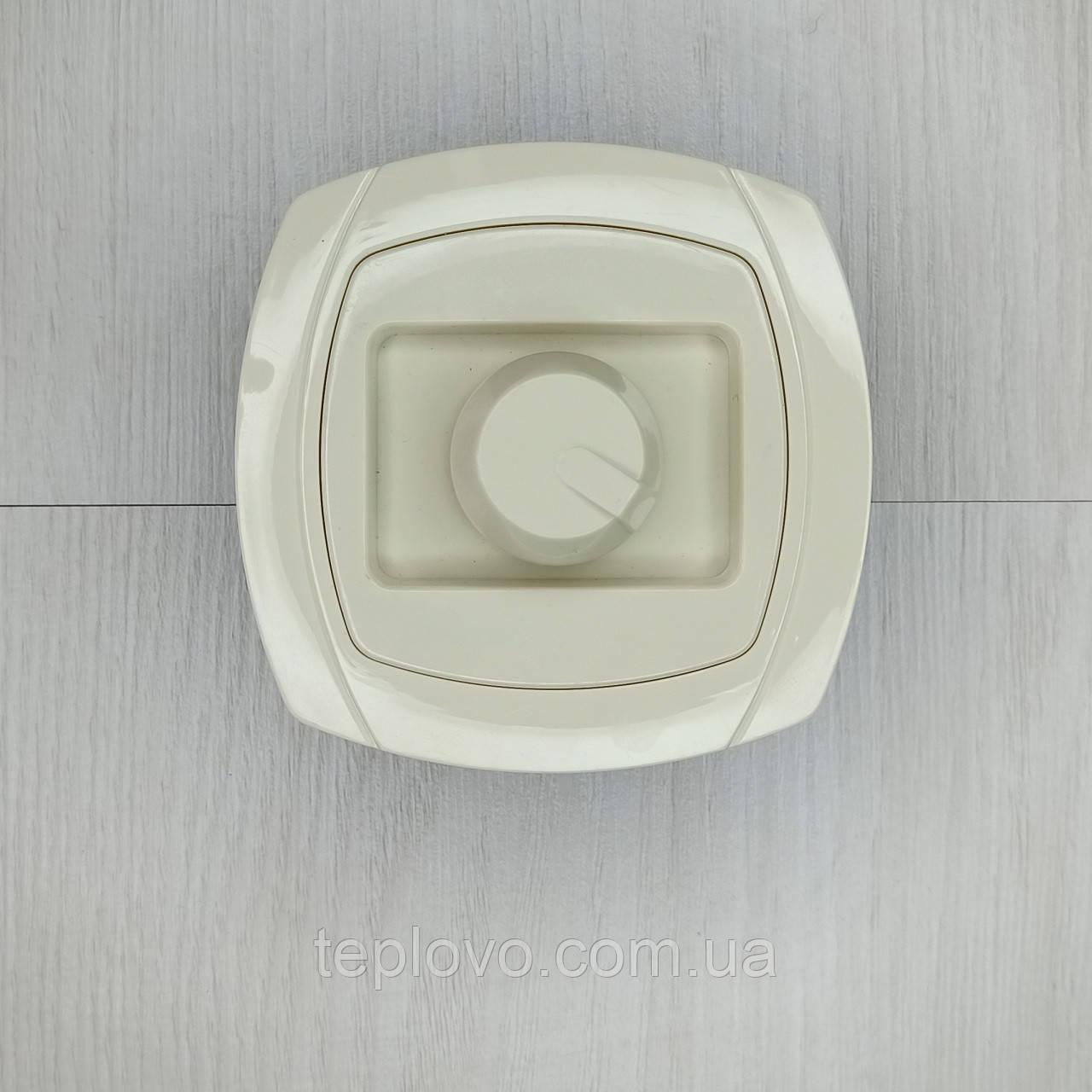 Диммер (реостат) универсальный кремовый, 400 Вт, светорегулятор