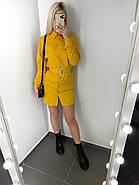 Стильне і модне плаття з широким поясом, довгий рукав з манжетом, 00858 (Жовтий), Розмір 42 (S), фото 3