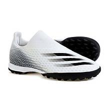 Сороконожки Adidas X Ghosted.3 Laceless TF EG8158