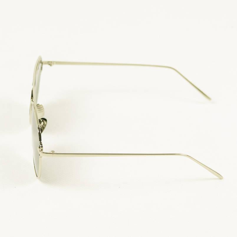 Окуляри сонцезахисні унісекс - Сріблясті з сірими дзеркальними лінзами 3785/3, фото 2
