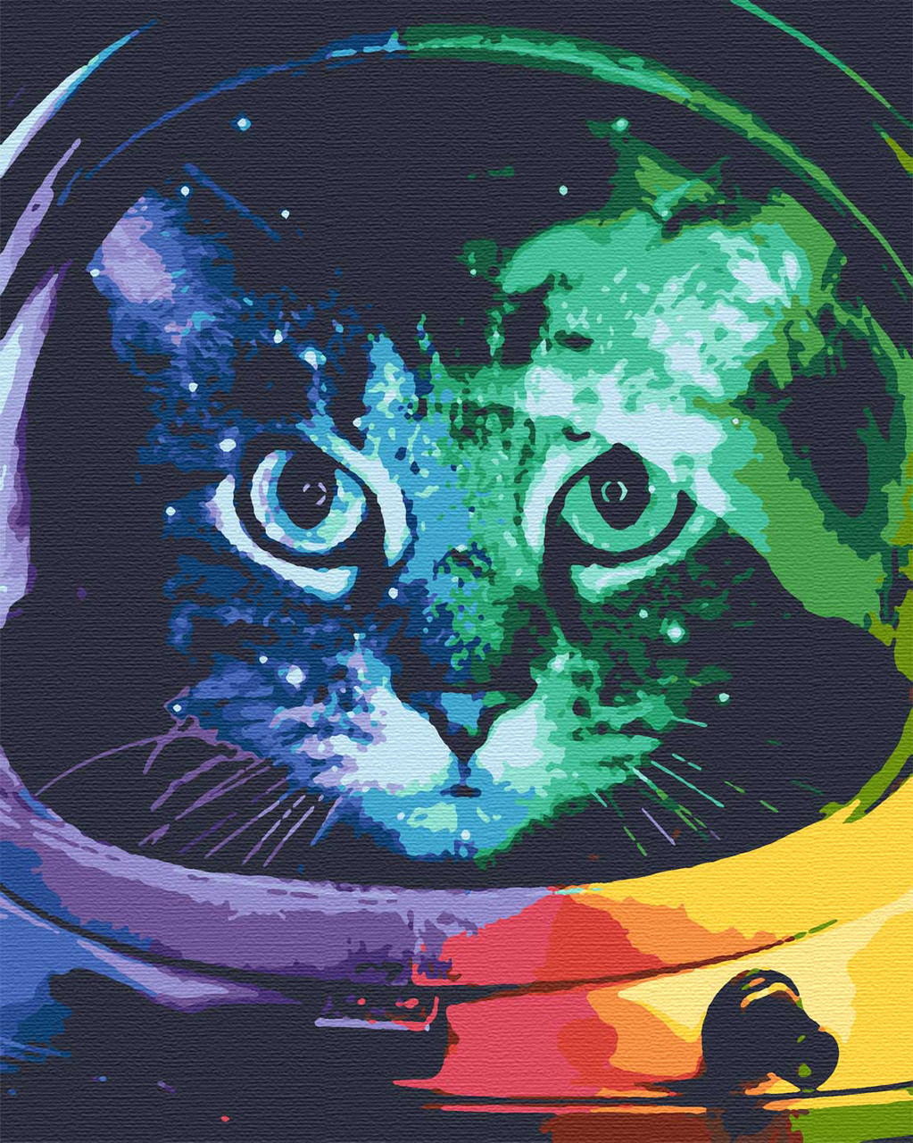 Картина по номерах тварини кіт 40х50 Котонавт
