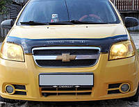 Chevrolet Aveo T250 2005-2011 гг. Дефлектор капота SD (VIP)