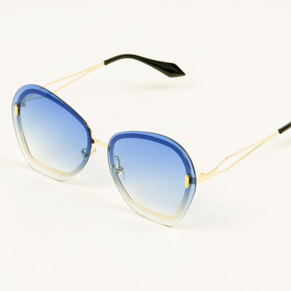 Модні жіночі окуляри з синіми лінзами - 3837