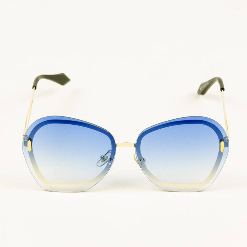 Модні жіночі окуляри з синіми лінзами - 3837, фото 2