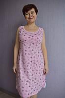 Трикотажные ночные сорочки Любушка бабочки на розовом