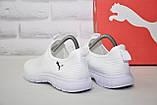 Лёгкие белые кроссовки сетка без шнурков  в стиле Puma, фото 5