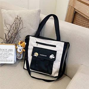 (Нет украшения)Студенческая школьная сумка новый стиль холщовая сумка женская сумка-мессенджер нейлон оптом