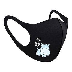 Захисна маска Pitta Black Hipo PT-BH, розмір: підлітковий, чорна