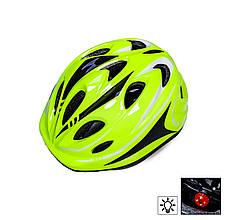 Шлем с регулировкой размера Салатовый цвет