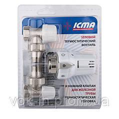 """Термокомплект Icma 1/2"""" прямий №KTE985+775+815"""