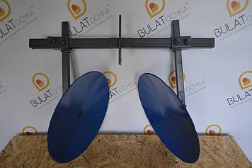 Окучник дисковый для мотоблока на двойной сцепке (ф дисков 400мм)
