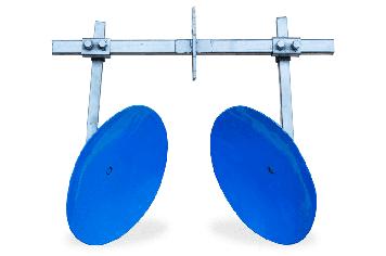 Окучник дисковий на подвійний зчепленні (ф дисків 450мм) для мотоблока і мототрактора