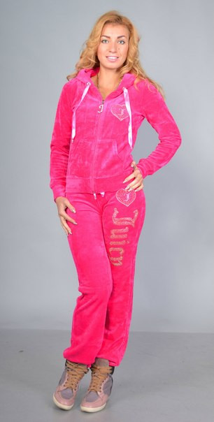 Женский спортивный велюровый турецкий костюм, С , М, L, 100 % Cotton