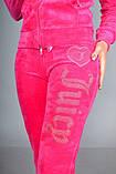 Женский спортивный велюровый турецкий костюм, С , М, L, 100 % Cotton, фото 5