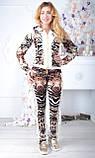 Велюровый женский спортивный турецкий костюм EZE купить разм 50,52,54,56, фото 2