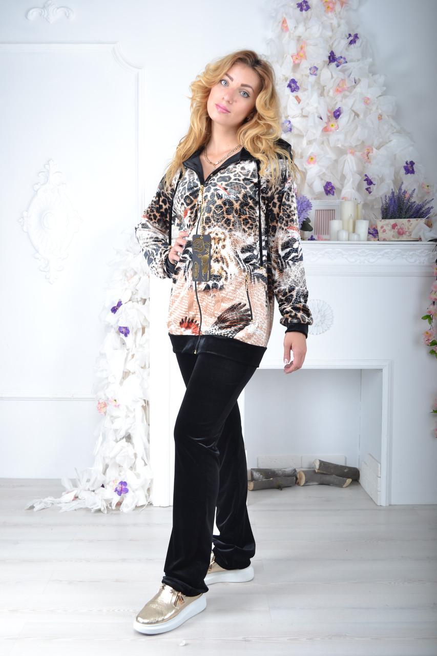 Жіночий велюровий турецький спортивний костюм EZE купити розм 50,52 баталов