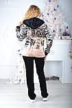 Жіночий велюровий турецький спортивний костюм EZE купити розм 50,52 баталов, фото 4