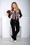 Женский велюровый турецкий спортивный костюм  разм 42,44,46, фото 2