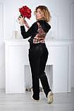 Жіночий велюровий турецький спортивний костюм розм 42,44,46, фото 3