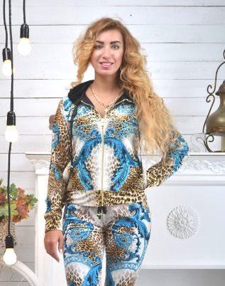"""Жіночий велюровий турецький костюм """"Bezlo"""" ; розм 42,44,46,48"""
