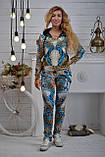 """Жіночий велюровий турецький костюм """"Bezlo"""" ; розм 42,44,46,48, фото 2"""