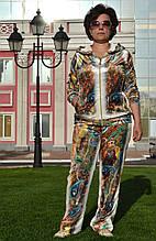 Женский велюровый костюм, большие размеры 50,52,54,56 купить в Украине