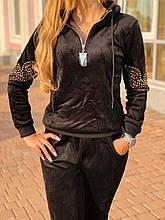 Женский турецкий спортивный костюм из зимнего велюра  разм 46,48,50