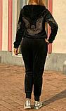 Жіночий турецький спортивний костюм з зимового велюру розм 46,48,50, фото 3