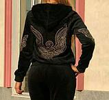 Жіночий турецький спортивний костюм з зимового велюру розм 46,48,50, фото 4