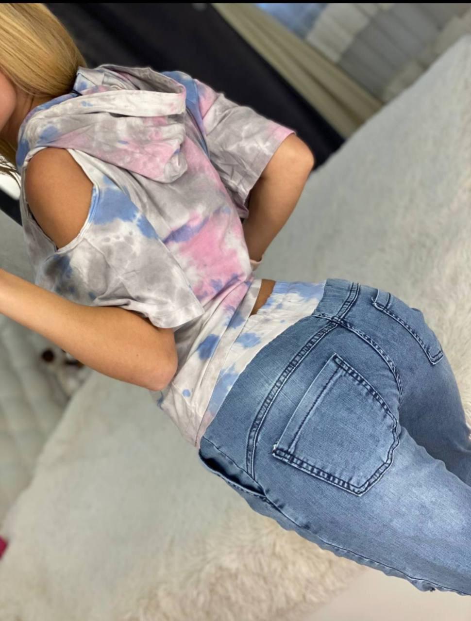 Женский костюм с джинсами *Cignet* (Турция); разм C,M/