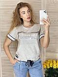 Женский летний костюм с джинсами (Турция); разм  44 46 (баталы) и норма С М, фото 3