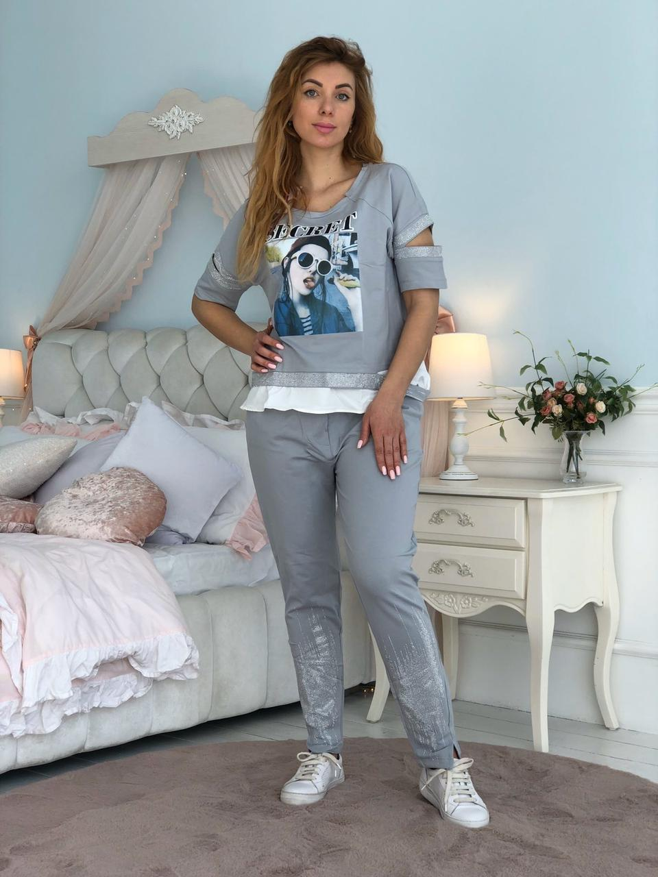 Жіночий брендовий спортивний костюм (Туреччина, RAW); розмір ХЛ