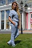 """Жіночий спортивний літній костюм """"Megi"""" з трикотажу (Туреччина); розм 44, 46,48,50, 2 кольори, фото 3"""