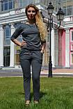 """Жіночий спортивний літній костюм """"Megi"""" з трикотажу (Туреччина); розм 44, 46,48,50, 2 кольори, фото 4"""