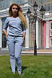 """Жіночий спортивний літній костюм """"Megi"""" з трикотажу (Туреччина); розм 44, 46,48, 2 кольори, фото 3"""