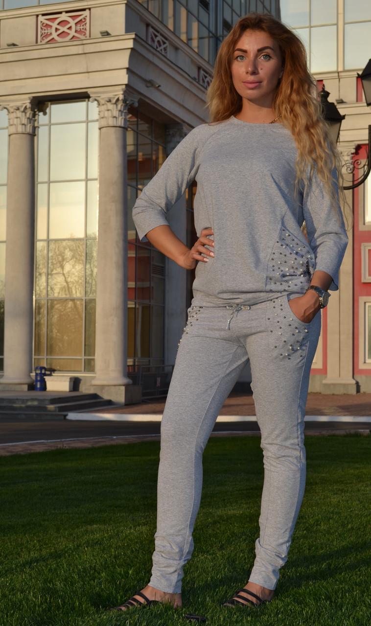 """Жіночий спортивний літній костюм """"Megi"""" з трикотажу (Туреччина); розм 44, 46,48,50"""