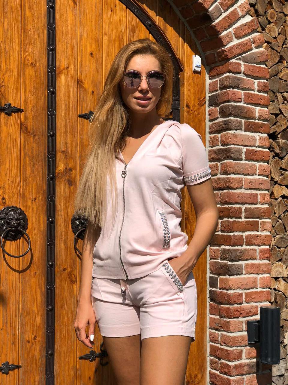Жіночий літній спортивний костюм (Туреччина, Zanardi); розмір С,М,Л,ХЛ,ХХЛ, 3 кольори