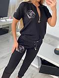 Жіночий річний брендовий спортивний костюм (Туреччина); розмір С,М,Л,ХЛ повномірні, фото 7