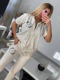 Женский летний  брендовый спортивный костюм (Турция); разм C,М,Л,ХЛ полномерные, фото 2