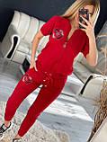 Женский летний  брендовый спортивный костюм (Турция); разм C,М,Л,ХЛ полномерные, фото 4