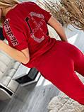 Женский летний  брендовый спортивный костюм (Турция); разм C,М,Л,ХЛ полномерные, фото 5