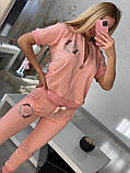 Женский летний  брендовый спортивный костюм (Турция); разм C,М,Л,ХЛ полномерные, фото 6