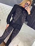 Женский летний  брендовый спортивный костюм (Турция); Размеры:44-46;46-48;48-50, 4 цвета, фото 3