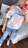 Жіночий літній костюм з джинсами *Cignet* (Туреччина); розмір С,М,Л,ХЛ, фото 2