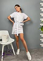 Трикотажне коротке плаття з сумочкою 054 В / 01, фото 1