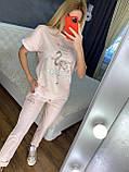 Жіночий літній костюм (Туреччина); розмір С,М,Л,ХЛ повномірні, 3 кольори, фото 5