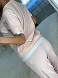 Жіночий літній костюм (Туреччина); розмір С,М,Л,ХЛ повномірні, 3 кольори, фото 7