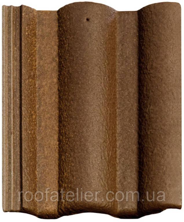 Цементно-песчаная черепица Braas / Браас Адрия Слари коричнево-золотой