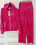 Женский  велюровый спортивный костюм из 100% катона ; размеры С,М,Л., фото 3