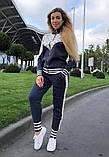 Женский брендовый турецкий спортивный костюм; разм С,М,Л,ХЛ, фото 2